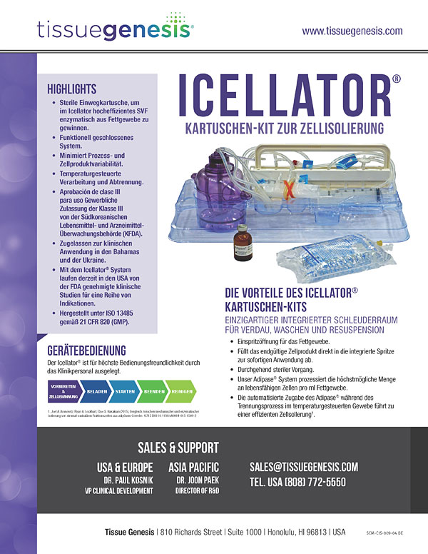 Icellator® Cartridge Kit Brochure (Deutsch)