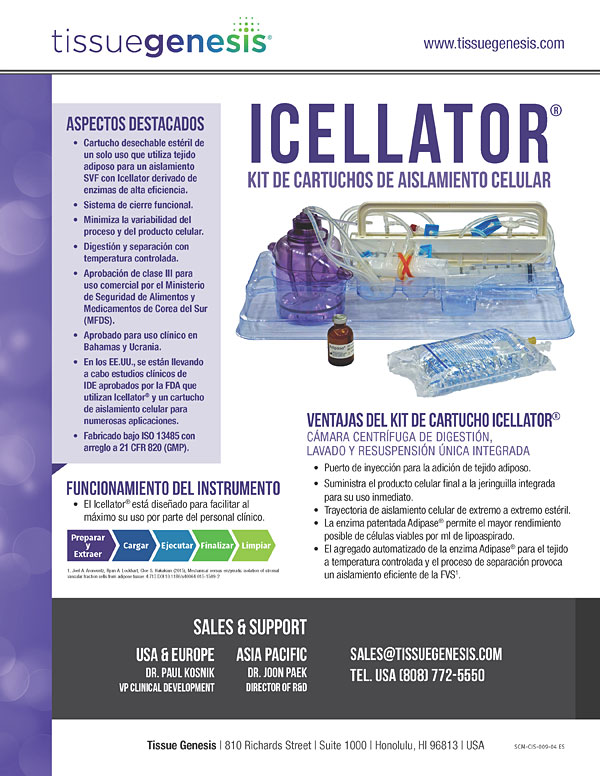 Icellator® Cartridge Kit Brochure (Español)
