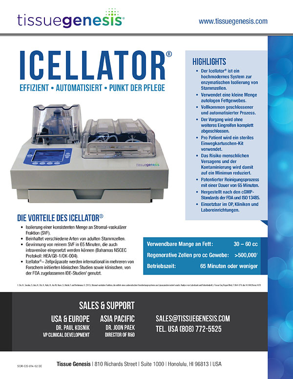 Icellator® Brochure (Deutsch)